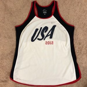 Nike USA 2012 Olympic racerback tank top